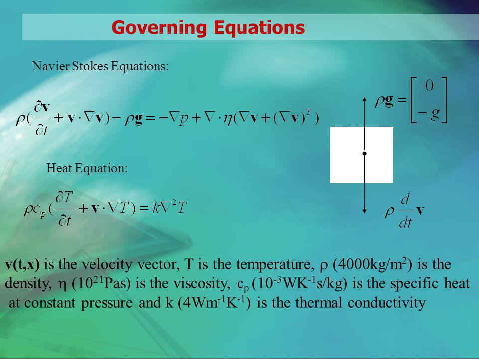 Governing Equations, cont.
