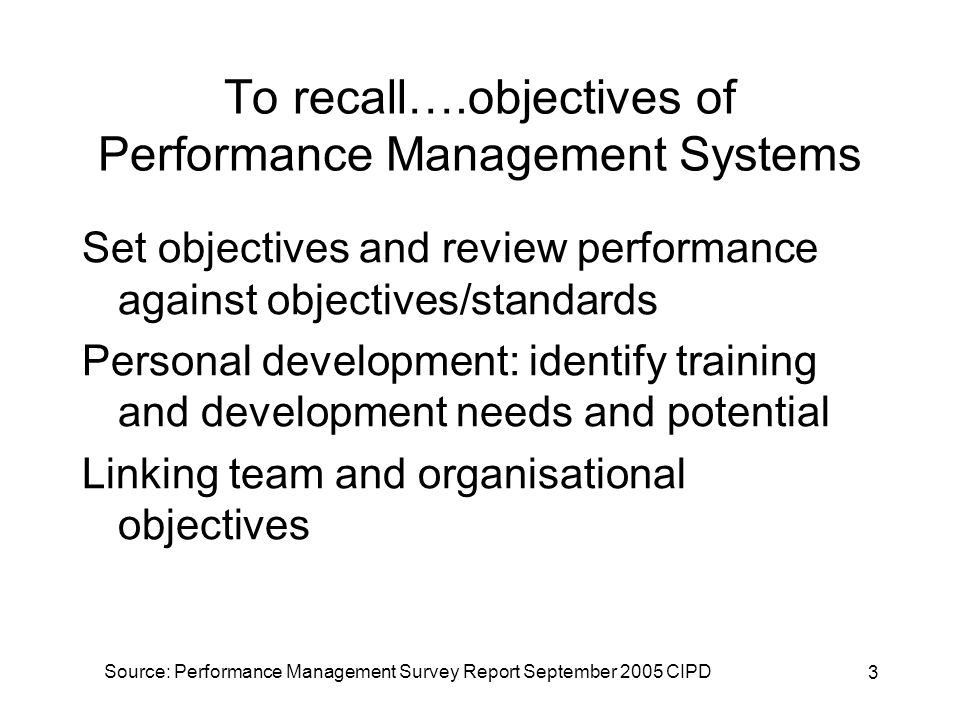 4 To recall…ideally an appraisal meeting is where… Appraisees do most of the talking Appraisers listen actively and provide feedback Scope for reflection and analysis – an exchange of views Performance is analysed not personalities Whole period is reviewed not just isolated incidents – evidence based Achievement is recognised and reinforced Identify areas for improvement – set agree objectives Ends positively with agreed action plans to improve performance (CIPD Performance Appraisal Fact Sheet at cipd.co.uk)
