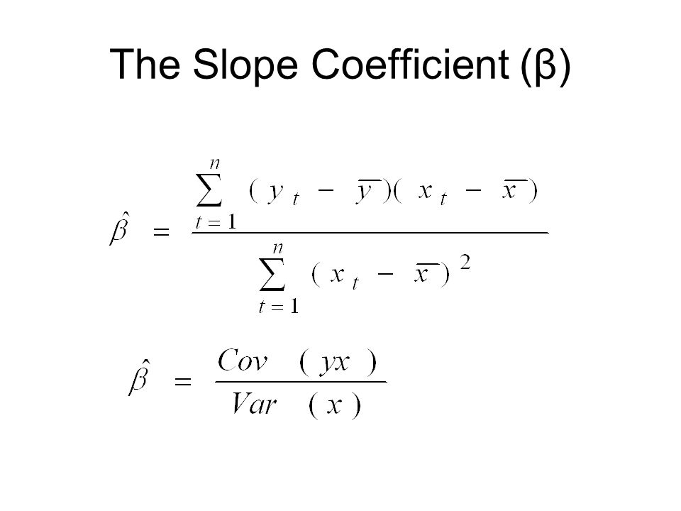 The Slope Coefficient (β)
