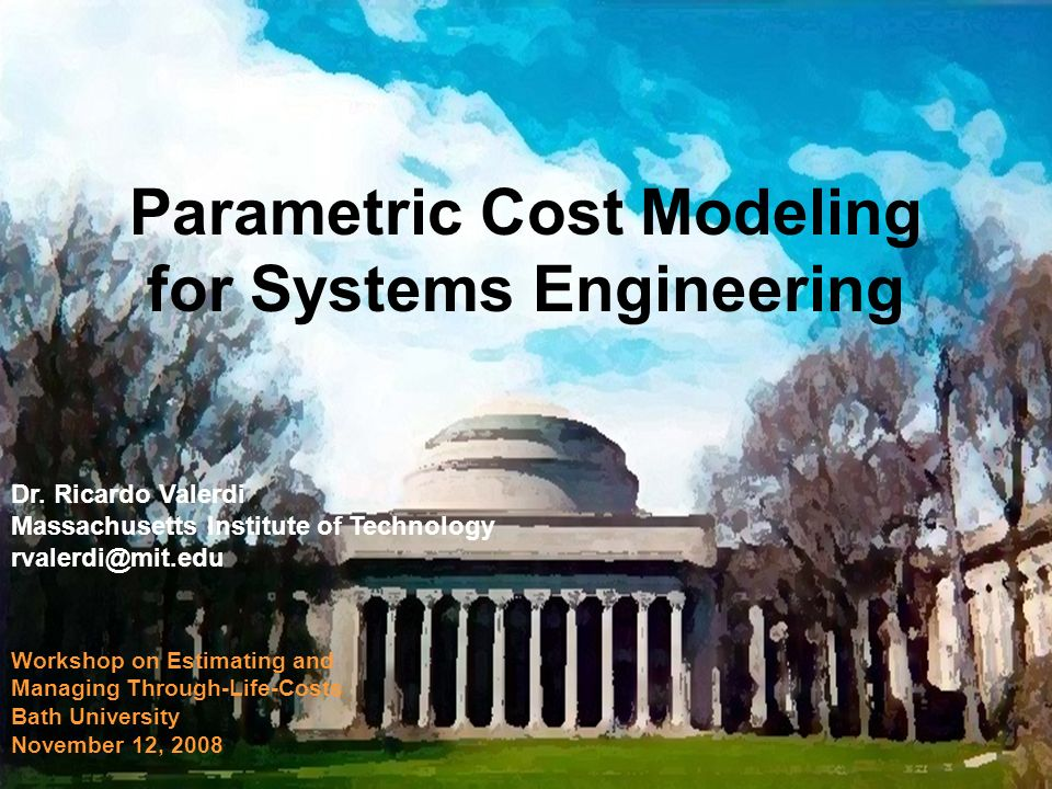 Bath University Workshop on Estimating and Managing Through-Life-Costs Nov 0822 Limitations of the model 1.
