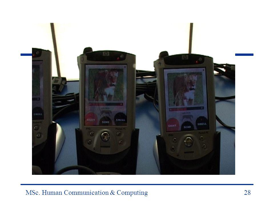 MSc. Human Communication & Computing28