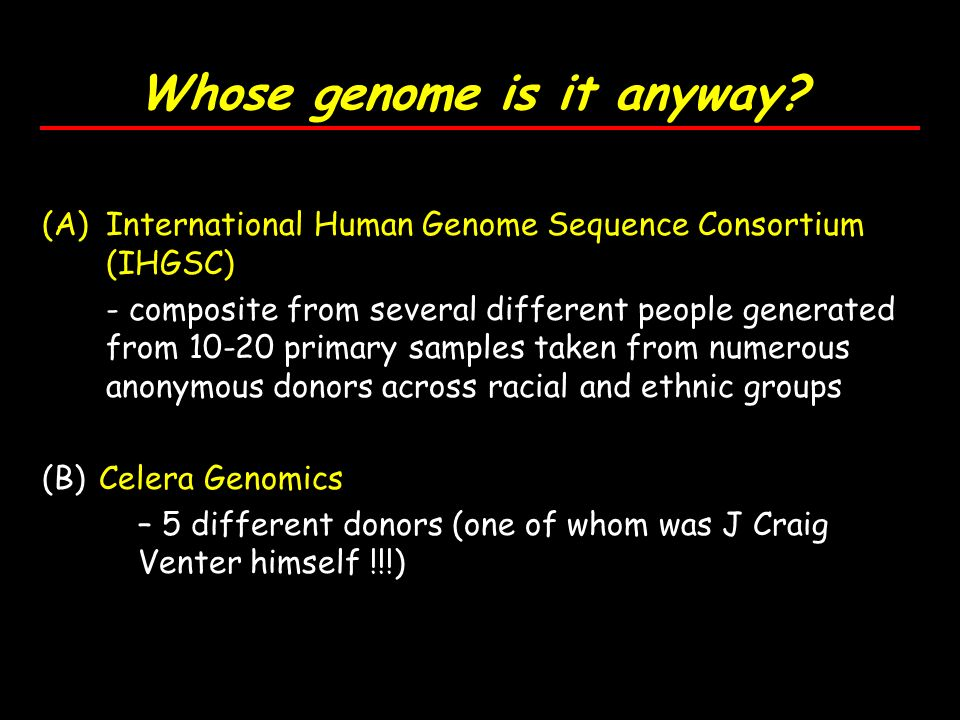 Whose genome is it anyway.