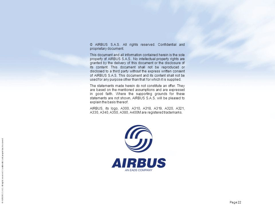 © AIRBUS S.A.S. All rights reserved. Confidential and proprietary document.