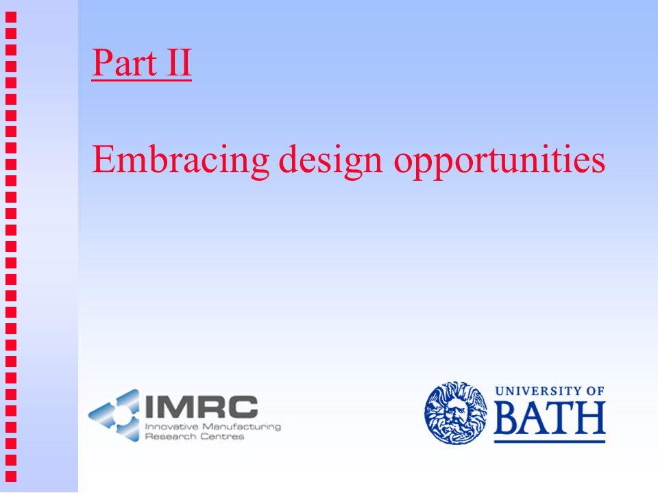 Part II Embracing design opportunities