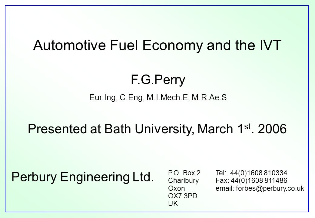 Perbury Engineering Ltd.