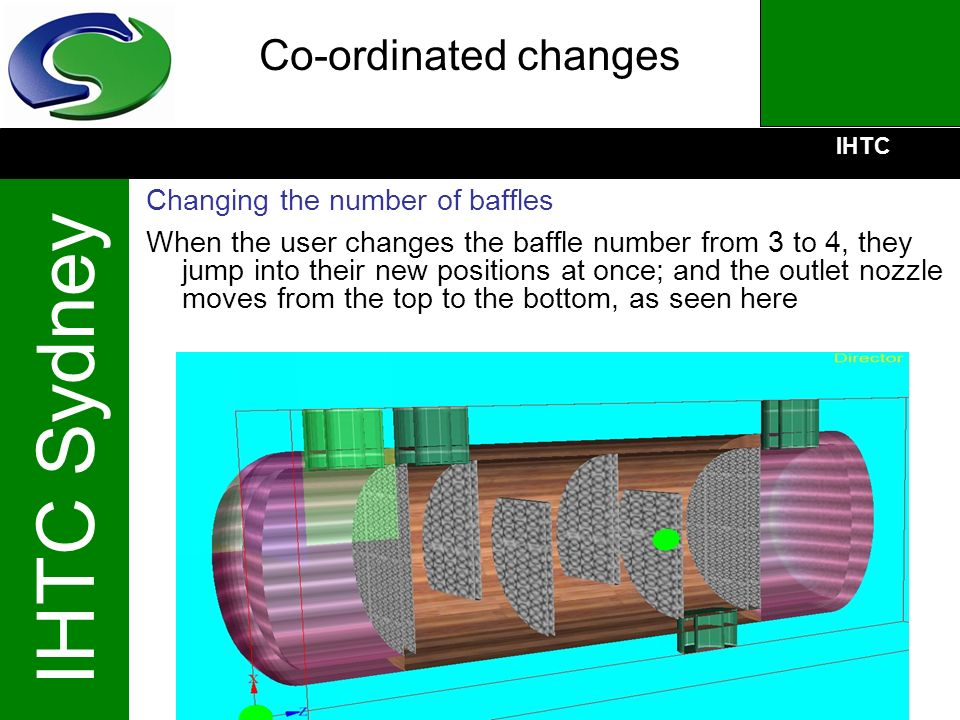 IHTC IHTC Sydney Co-ordinated changes Changing the number of baffles When the user changes the baffle number from 3 to 4, they jump into their new pos