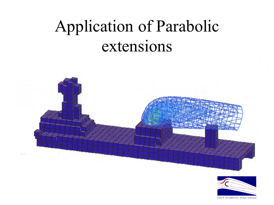 Application of Parabolic extensions IPARAB=5 for underexpanded free jets Significant increases in solution speed for 2D and 3D plumes Increased resolu