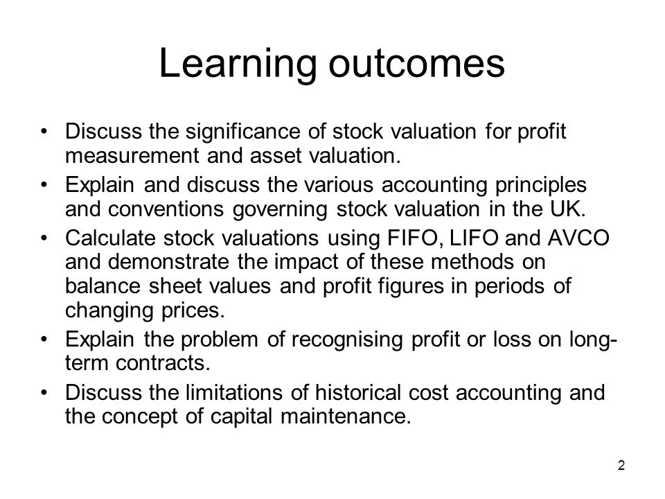3 Stock Valuation Why is the valuation of stock important.
