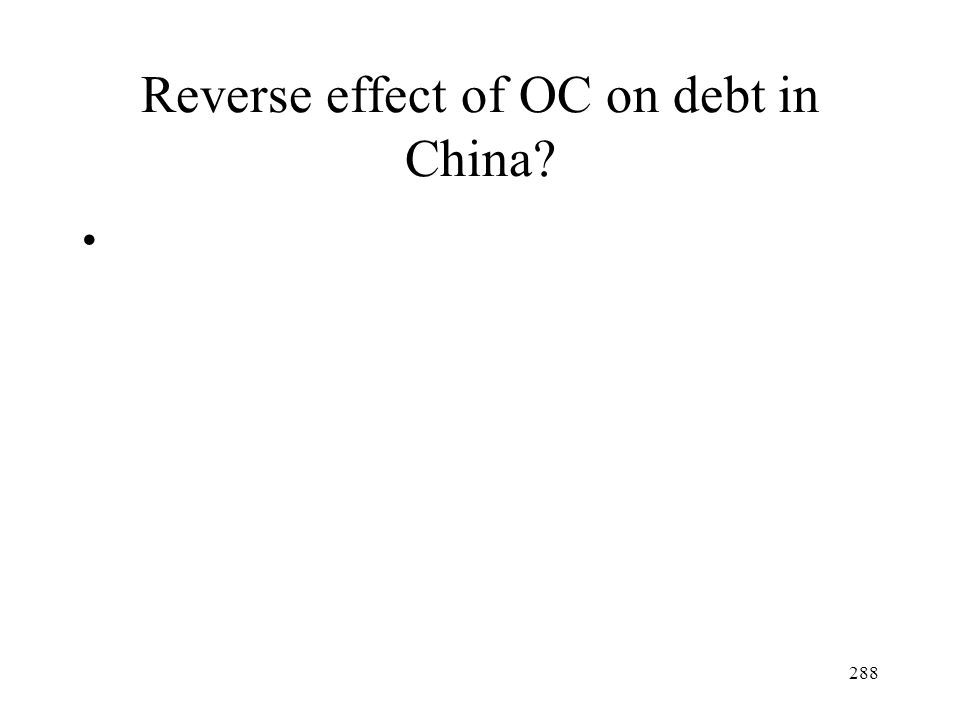 288 Reverse effect of OC on debt in China?
