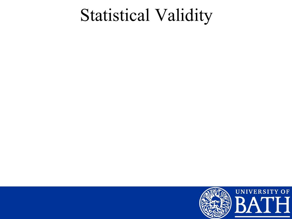 Statistical Validity