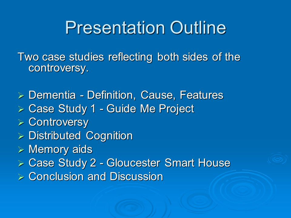 Presentation Outline Two case studies reflecting both sides of the controversy.