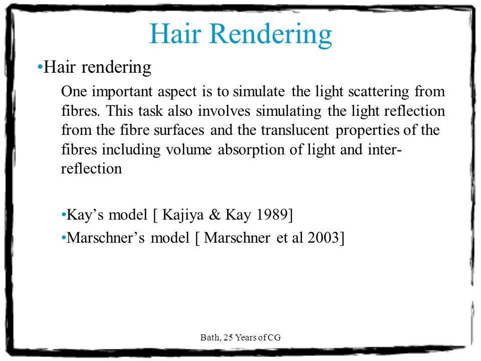 Bath, 25 Years of CG Hair Animation Image from Final Fantasy (Kais hair)