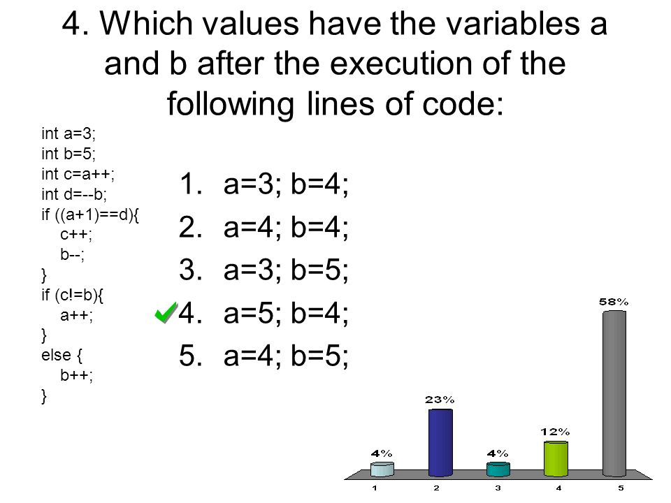 5.What is the result of n.