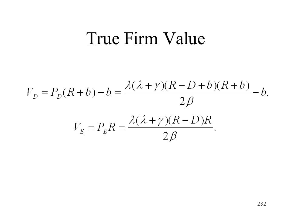 232 True Firm Value