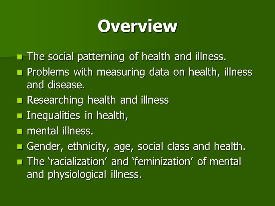 Problems in researching Health and Illness relativity of health concepts relativity of health concepts Concepts and understandings vary enormously from culture to culture.