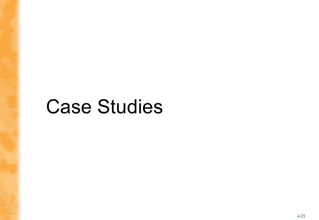 4-25 Case Studies
