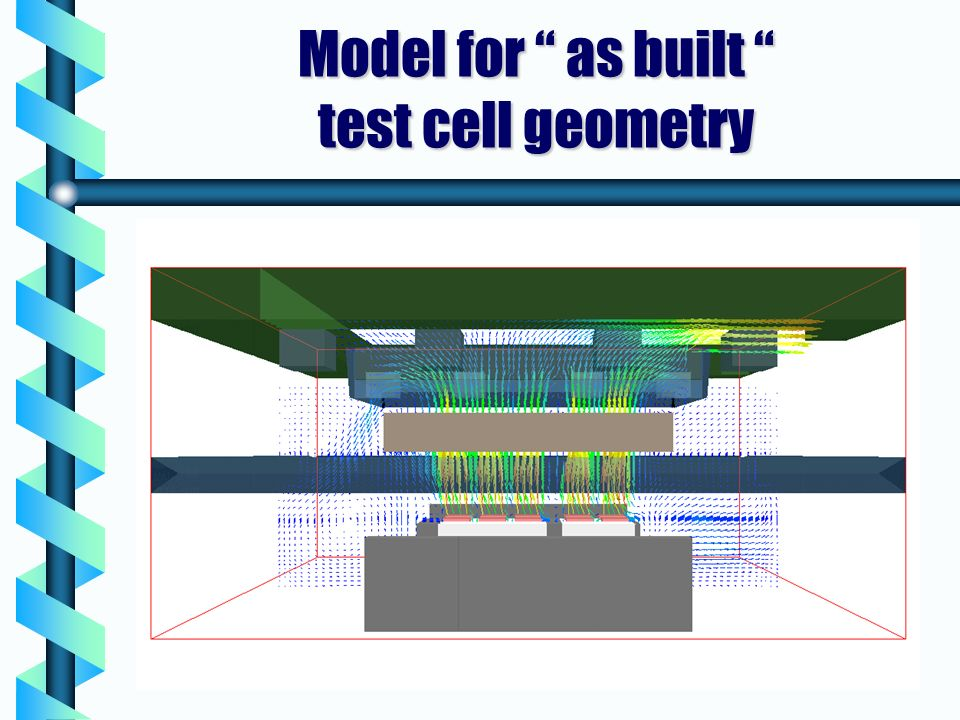Model for as built test cell geometry