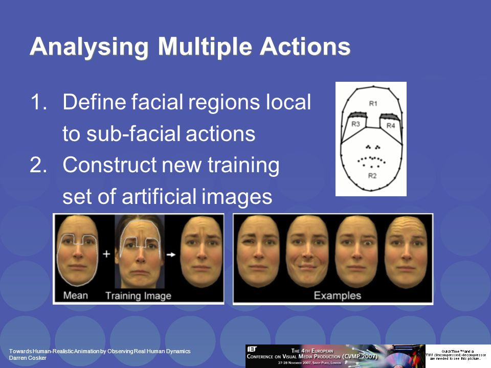 Towards Human-Realistic Animation by Observing Real Human Dynamics Darren Cosker Perceptual Evaluation Motivation: How best to evaluate facial animation.