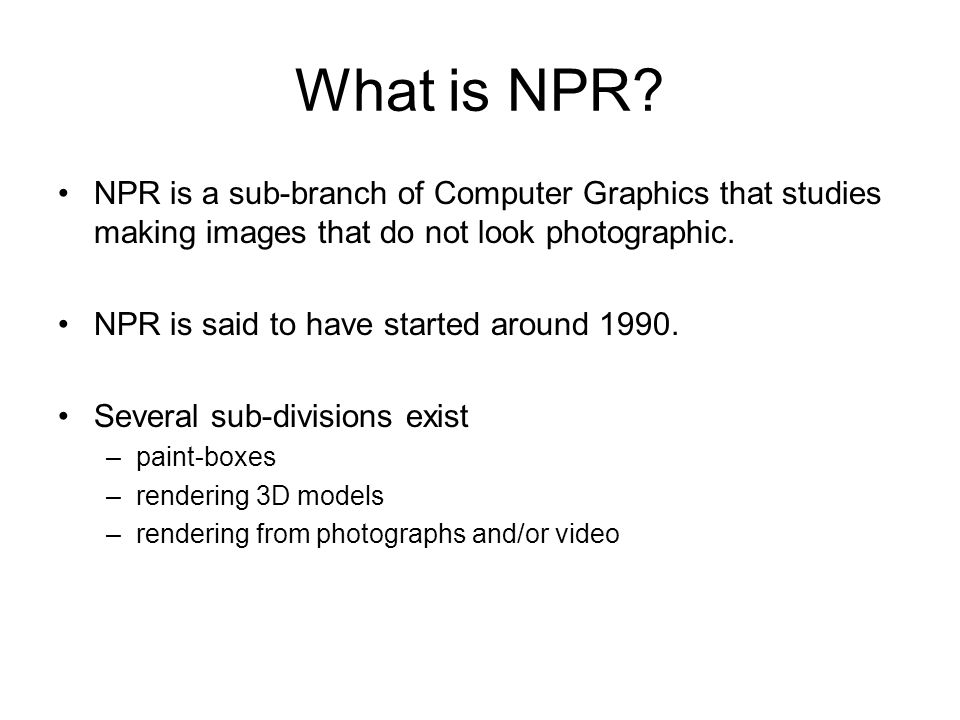 What is NPR.