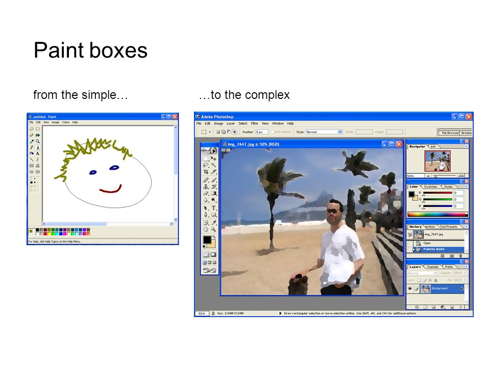 Paint boxes from the simple……to the complex