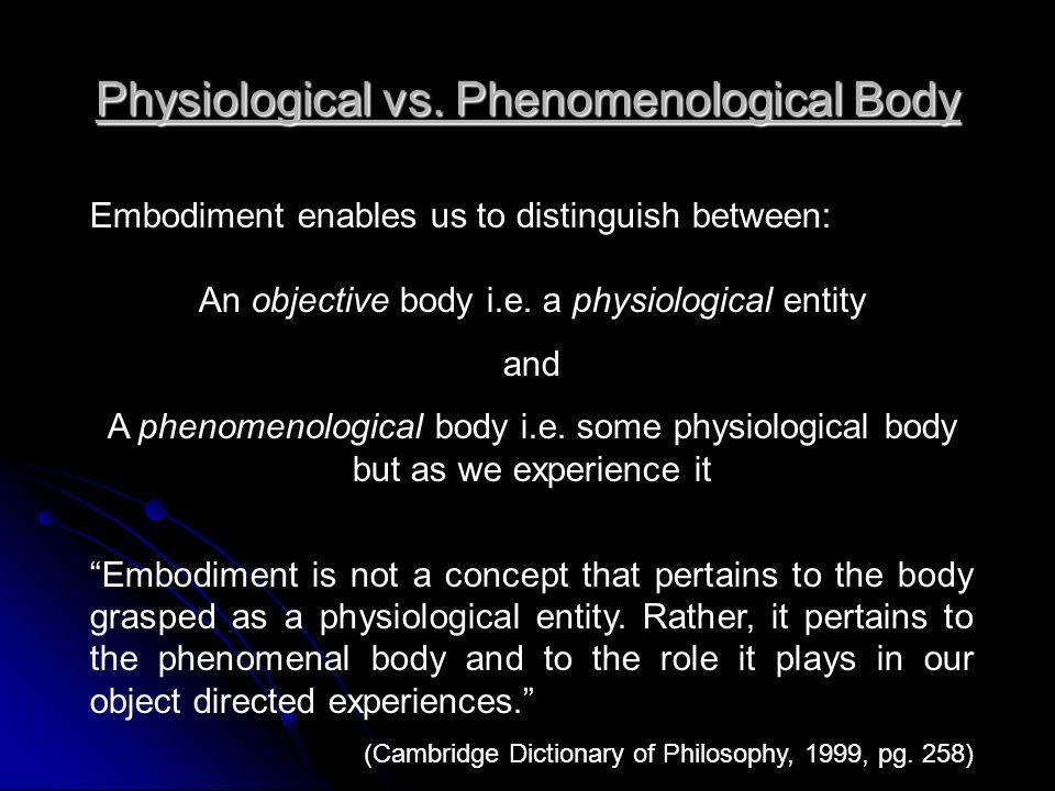 Physiological vs.