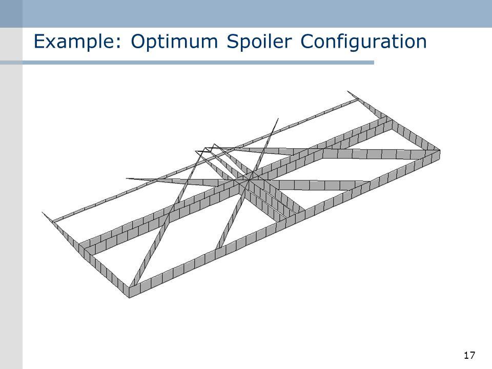 Example: Optimum Spoiler Configuration 17