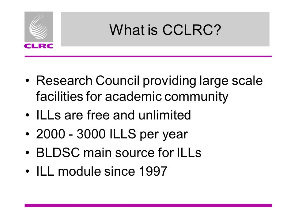 What is CCLRC.