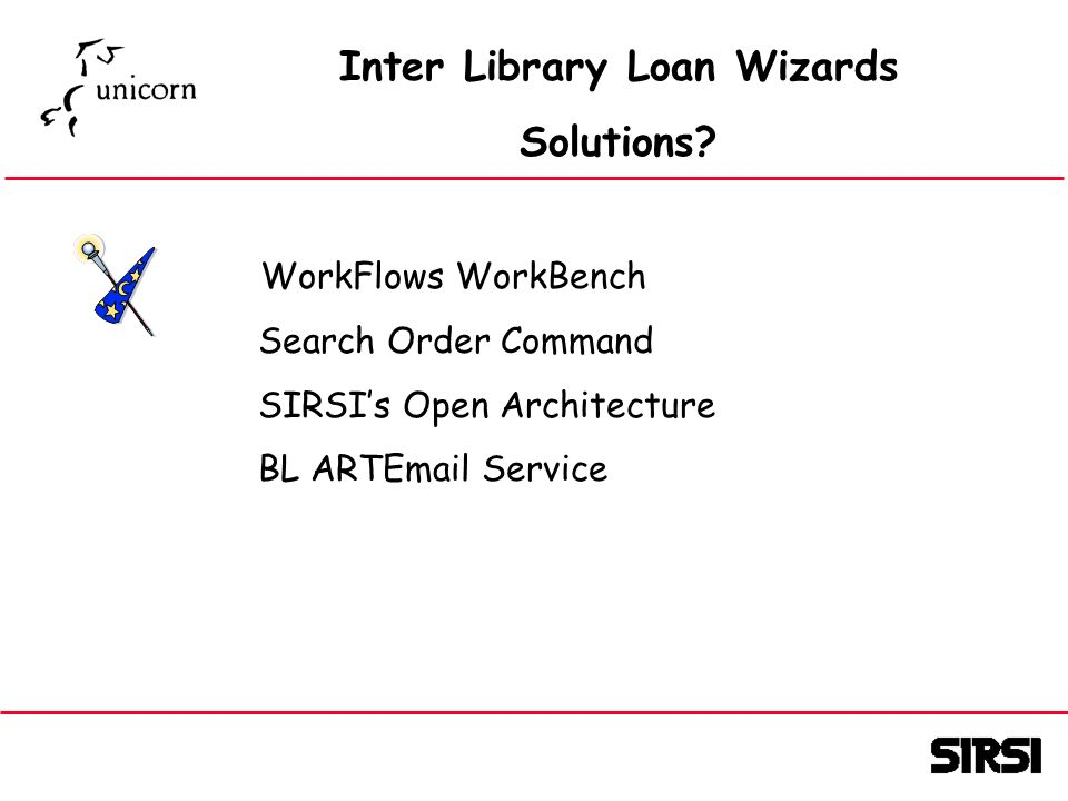 Inter Library Loan Wizards Solutions.