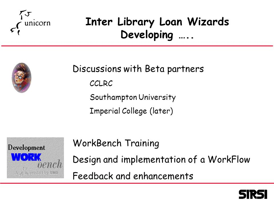 Inter Library Loan Wizards Developing …..