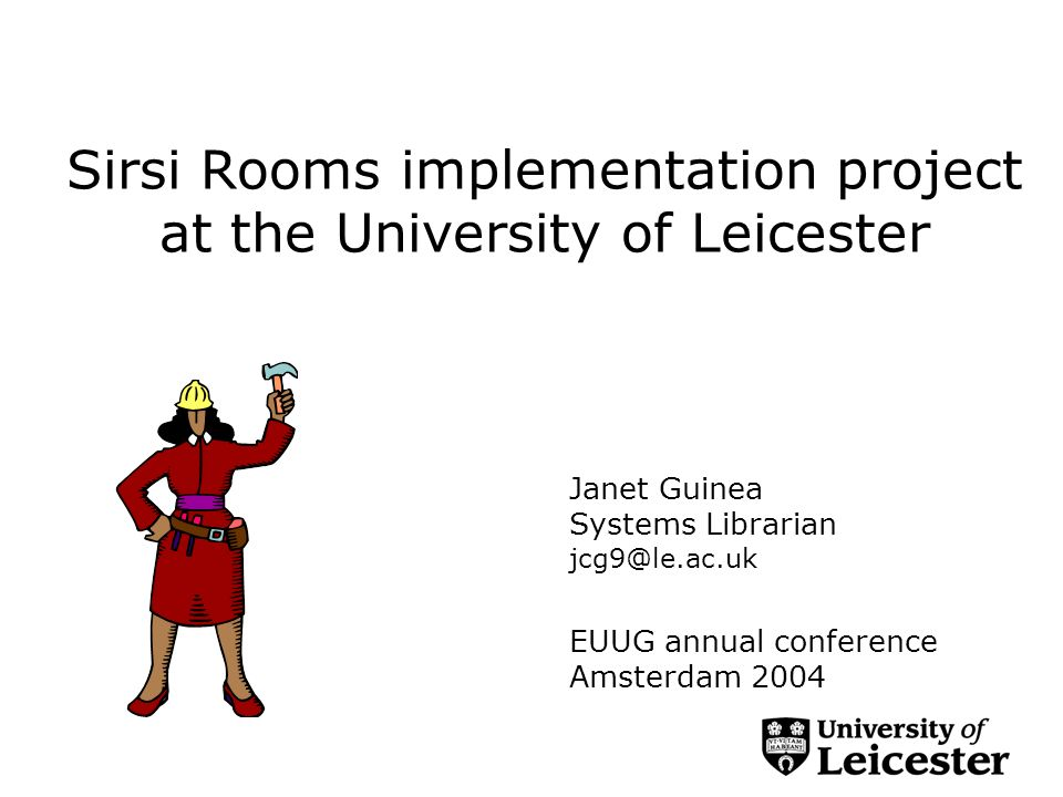 The project to date Current practise and reasons for change Our Rooms vision The project SingleSearch Resolver The Rooms themselves and using Builder Next steps
