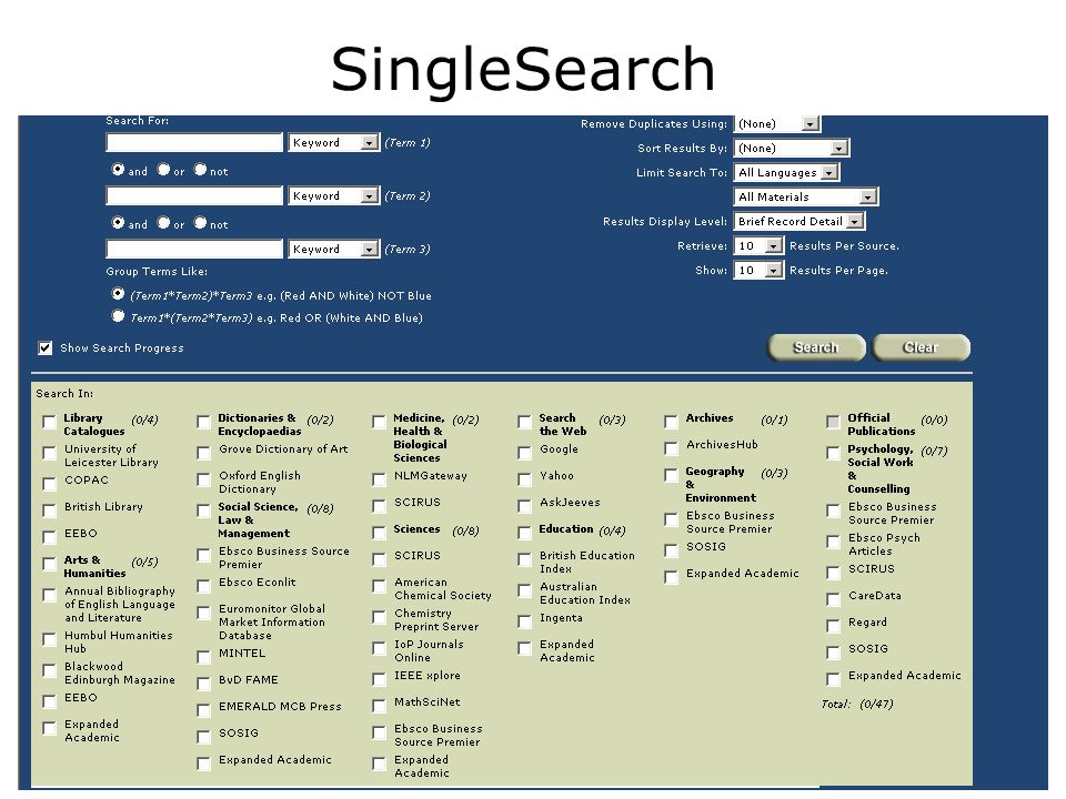 SingleSearch