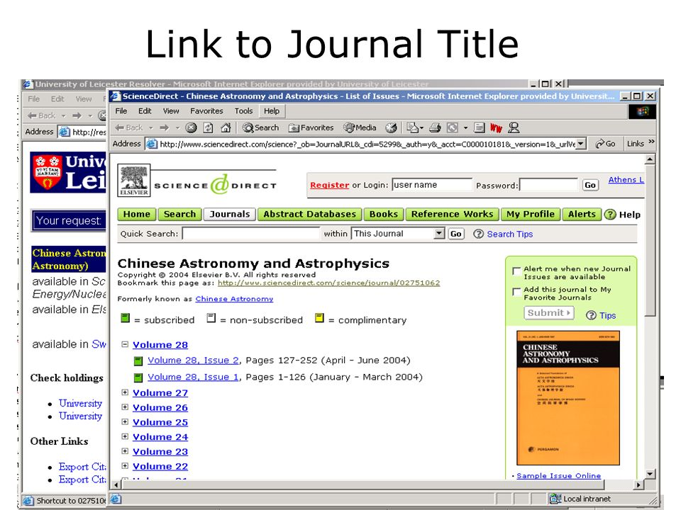 Link to Journal Title