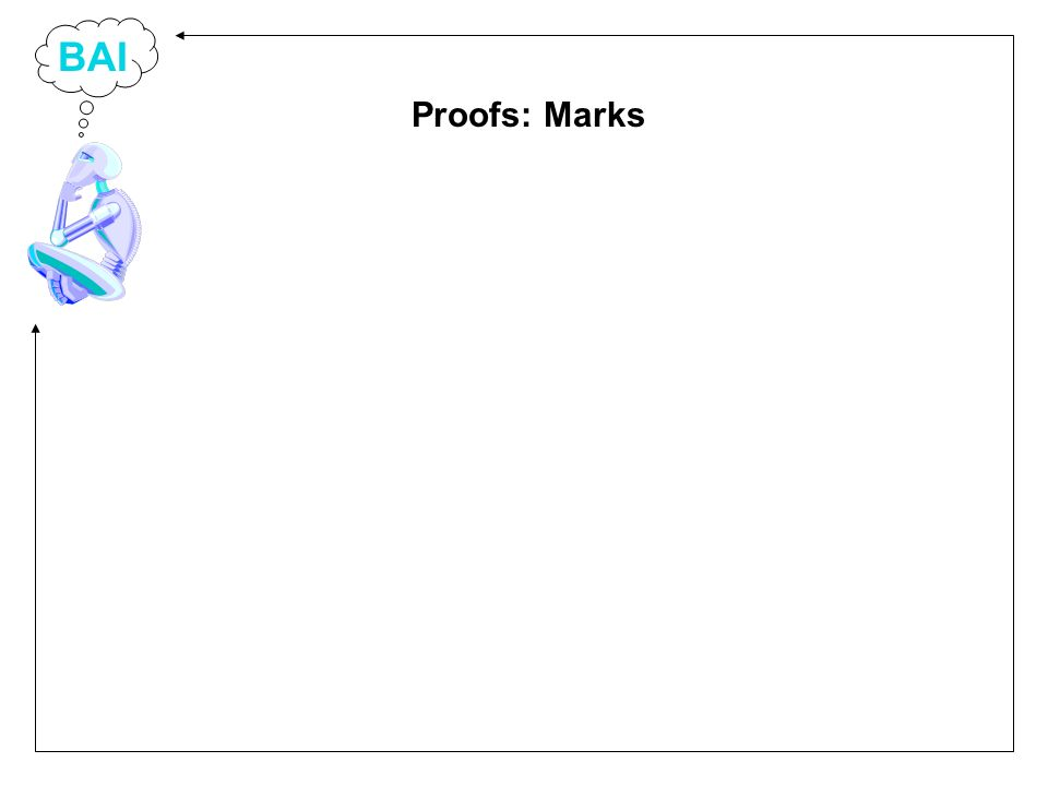 BAI Proofs: Marks