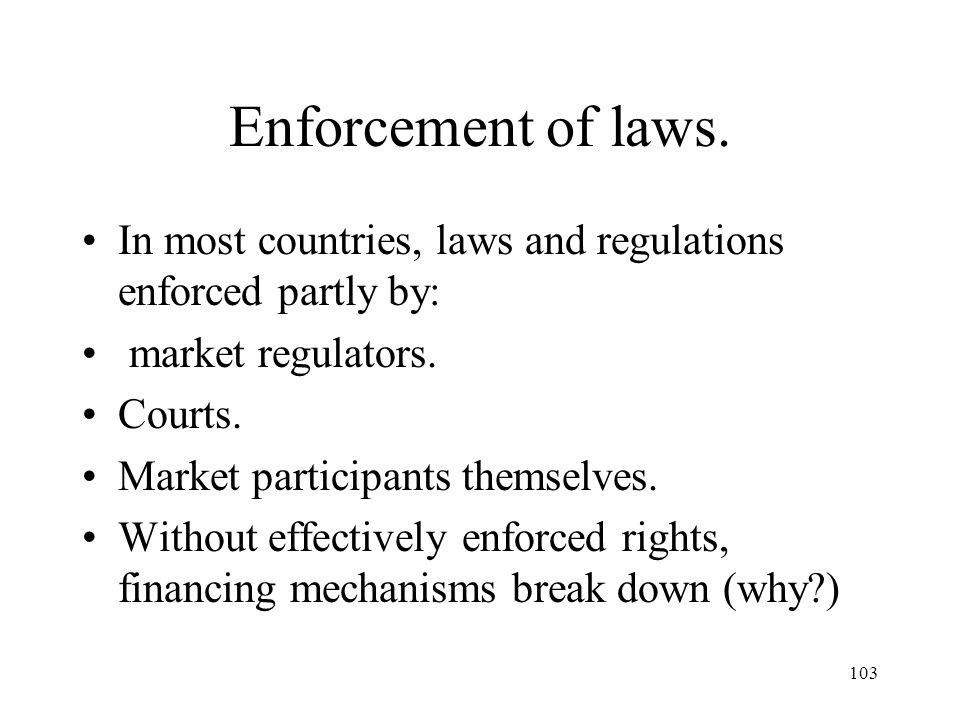 103 Enforcement of laws.