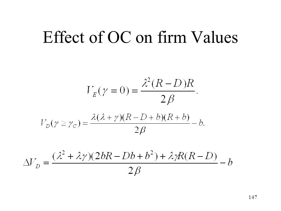 147 Effect of OC on firm Values