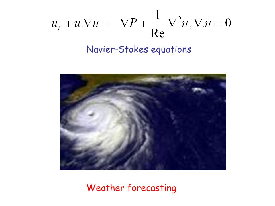 Weather forecasting Navier-Stokes equations