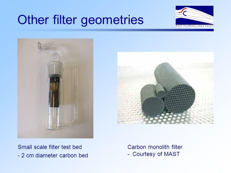 Flow through filter bed