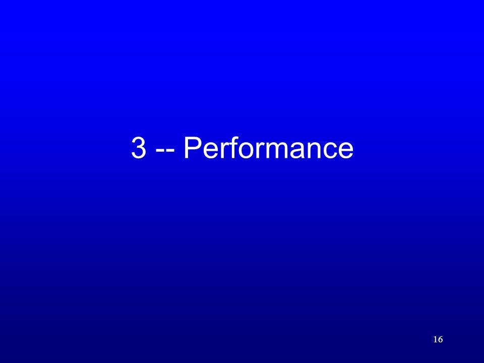 16 3 -- Performance