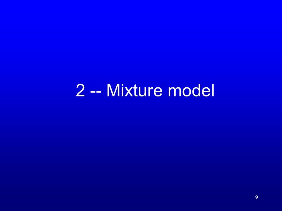 9 2 -- Mixture model
