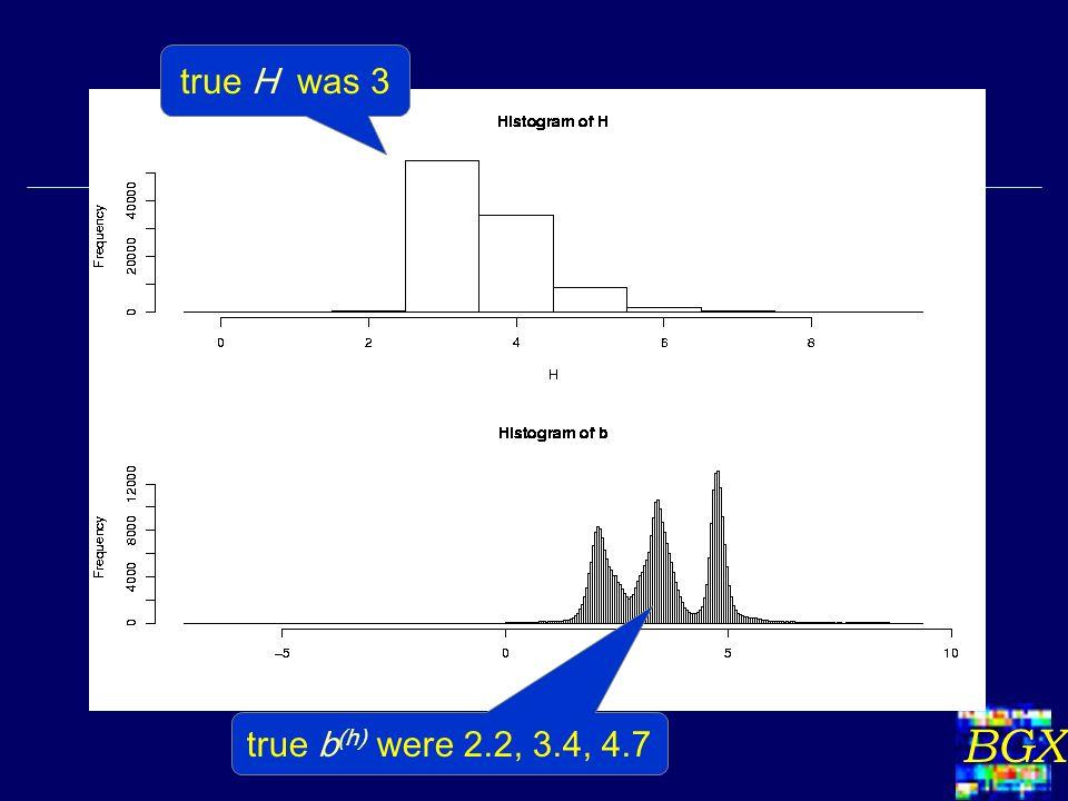 BGX true H was 3 true b (h) were 2.2, 3.4, 4.7