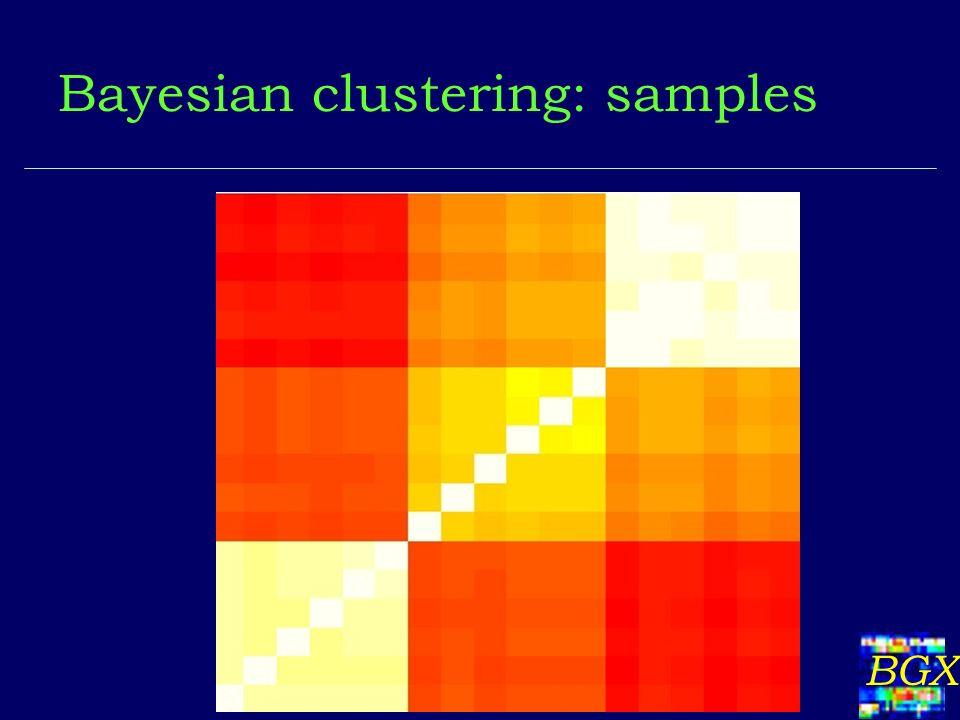 BGX Bayesian clustering: samples