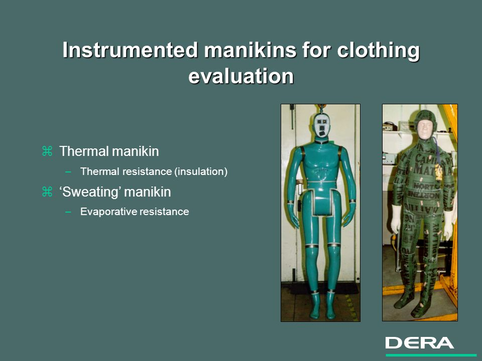 Virtual Manikin Project Objectives zCreate a tool for modelling and assessing potentially hazardous environments zCreate a tool for assessing clothing systems prior to construction zReduce costs and time-scales for equipment procurement