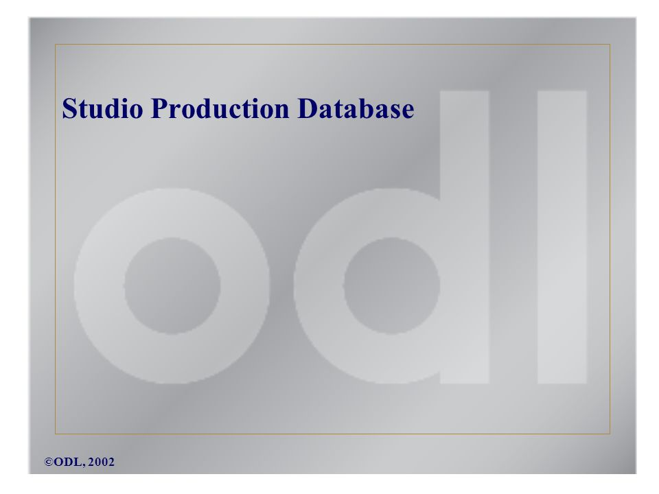 ©ODL, 2002 Studio Production Database