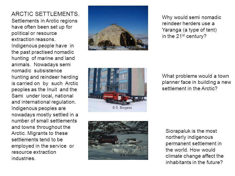 ARCTIC SETTLEMENTS.