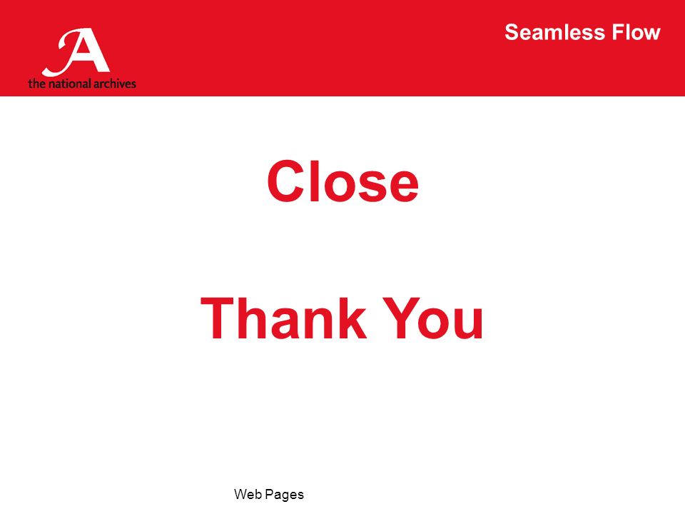 Seamless Flow Web Pages Close Thank You