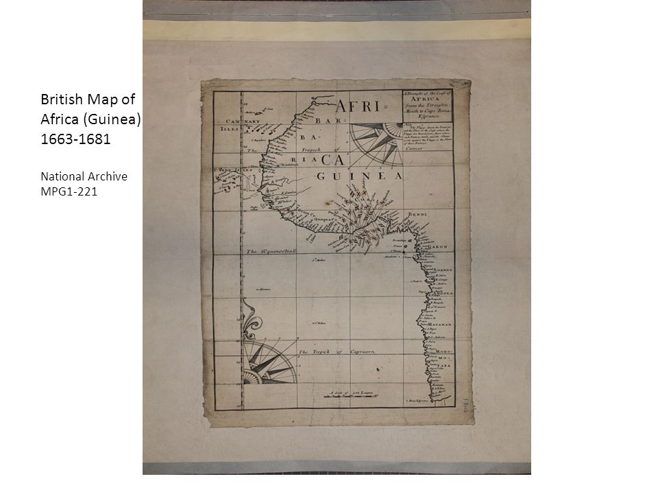 British Map of Africa (Guinea) 1663-1681 National Archive MPG1-221