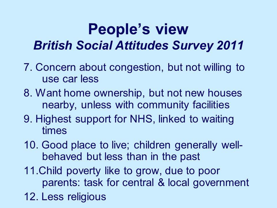 Peoples view British Social Attitudes Survey 2011 7.