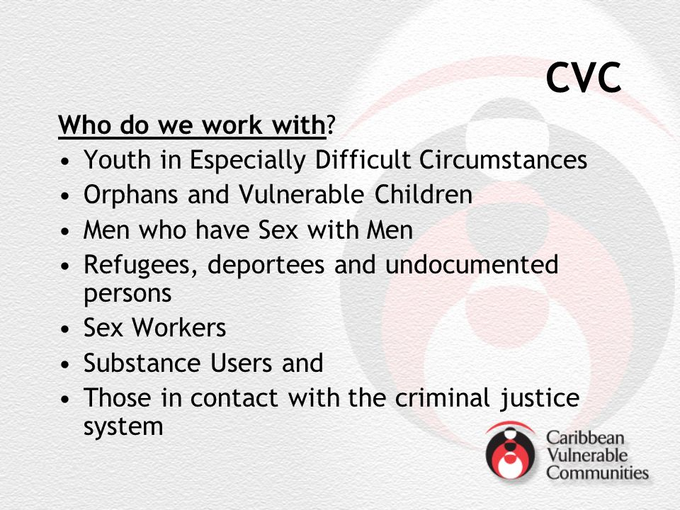 CVC Who do we work with.