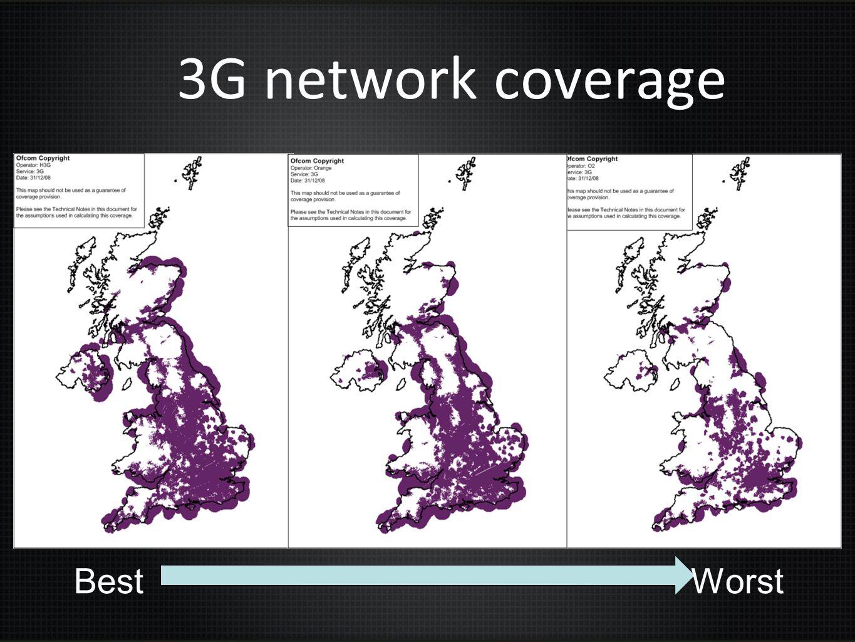 3G network coverage BestWorst