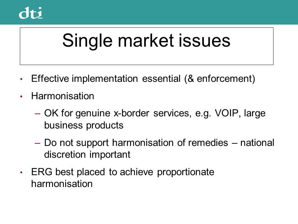 Spectrum management Support use of market mechanisms in principle Trading should be encouraged No explicit support of mandated bands for trading Agnostic that bands need to be held back for pan- European services Recognise exceptions, e.g.